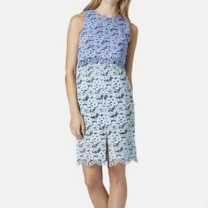 Topshop Two Tone Lace Popover Dress
